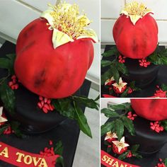 #pomegranate #birthday #cake