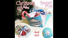 Sweet Pea's November Sew-a-Long Christmas Gift basket made in the hoop