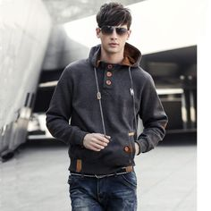 Winter Men Hoodies Cotton Hoodie Jacket Hip Hop Sportwear Hoodies