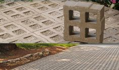 EcoGrid is another pervious concrete paving grid option. It provides 39 percent open space in which to place such drainage friendly material...