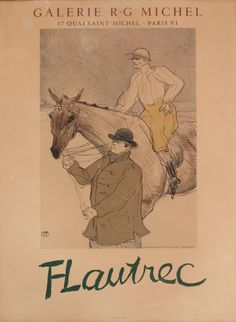 Lot 303 - After Toulouse Lautrec, two original lithograph exhibition poster posters from Galerie R-G Michel,