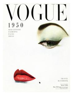 Vogue Cover Jean Patchett - January 1950 Poster Print by Erwin Blumenfeld at the Condé Nast Collection