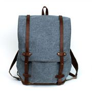 beautiful wool and waxed canvas backpack / handmade by amber jensen of sketchbook in portland, oregon