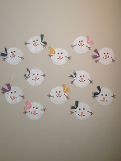 Snowman craft! Did this craft with 2 year olds!