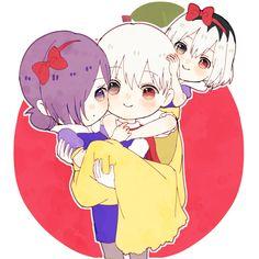 Twitter Kaneki Y Touka, Tokyo Ghoul Wallpapers, Tokyo Ghoul Manga, Kawaii, Baby Bunnies, I Love Anime, Manga Art, Game Art, Chibi