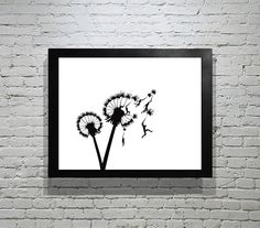 There's just something about this I like. Dandelion with People Hand-Cut Paper Silhouette 8x10. $35.00, via Etsy.