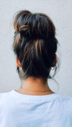Front Hair Styles, Medium Hair Styles, Curly Hair Styles, Bun Hairstyles For Long Hair, Cute Hairstyles, Hair Upstyles, French Hair, Grunge Hair, Hair Videos
