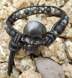 Skulltastic Men's wrap bracelet Sterling Silver by Tesoribydmarie