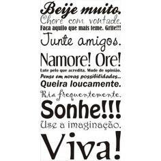Viva, seja feliz!