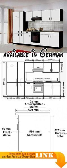 B008MUQPBI  Küche Sophie 280x270 cm Küchenzeile in grafit grau - küchen ohne elektrogeräte
