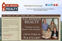 "TechReady Professionals re-designed an online presence for Pat Merwin Realty in New Bethlehem, PA.    ""We at Pat Merwin Realty provide you with knowledge, service, honesty, security, team effort, experience and integrity. If these values are important to you, then Pat Merwin Realty is the agency for you…""    If you have questions or need more information you can contact us at Pat Merwin Realty and let us help you find it.  ~ Patricia L. Merwin http://www.MerwinRealty.com"