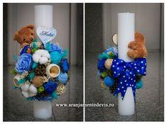 Christening, Hanukkah, Wreaths, Flowers, Handmade, Crafts, Wedding, Home Decor, Candles