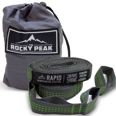 NEW Hammock Tree Straps (2pc) - High Quality Heavy Duty No Stretch Suspension System - Fast Easy Setup - Fits Any Hammock - by The Rocky Peak * You can find more details by visiting the image link.