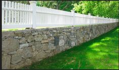 stone wall picket fence   Found on images.search.yahoo.com