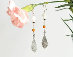 Boho style earrings by Milanka Design Boho Style, Jewelry Collection, Boho Fashion, Etsy Seller, Jewelry Design, Drop Earrings, Unique, Creative, Vintage
