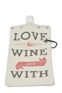 Wine/Liquor reusable canvas bag that can fit up to 16 fl oz.   Beverage Tote by Tote + Able. Home & Gifts Kentucky
