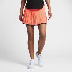 Nike NikeCourt Victory Women's Tennis Skirt Size Medium (Orange) - Clearance Sale