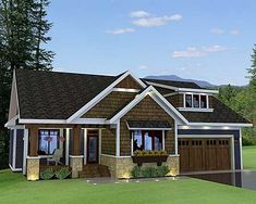 Great house plan with In-law suite above the garage.
