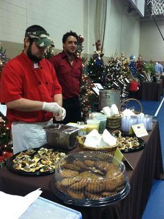 Chef Paul and Brett at 2012 Festival of Trees supporting Friends of Caroline Hospice