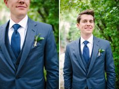 Navy blue grooms suit Mt. Princeton Hot Springs Wedding » Michele Hart Photography