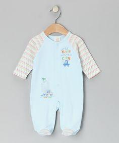 Blue Big City Footie - Infant