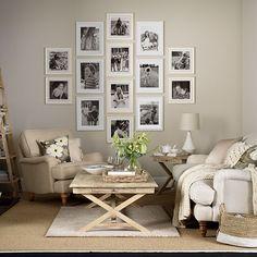 Blue living room with indigo curtains | Decorating | housetohome.co.uk