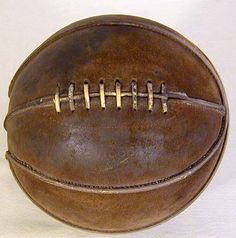 This is a basketball from the 1920s!