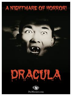Gotta love the drama of those old horror movie posters! PicMonkey's Vampires theme brings awesome effects, clip art, fonts, and textures into the light of day this Halloween. http://picmonkey.com/#go/themes/vampires