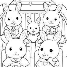 Départ en vacances avec la famille lapin chocolat