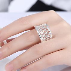 #Snowflake #SilverPlated #Ring