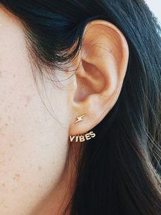 Good Vibes Earring Jackets #BANDOxBINGBANG | @bingbangnyc @bando ❤️⚡️