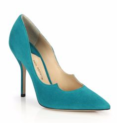 Paul Andrew   Suede Sculpted-Vamp Pumps   SAKS OFF 5th