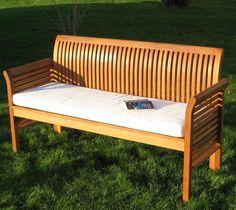 3-Sitzer oder 4-Sitzer Bank + Auflage Holz-Gartenbank no Teak in Garten & Terrasse, Möbel, Bänke | eBay