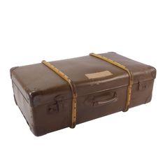 #Brocante #koffer met houten #baleinen #vintage