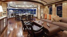 Luxurious Yacht Sirius, Luxury, Lavish, Rich, Richmenslife, Beautiful, Interior, Seas, Transport, Private