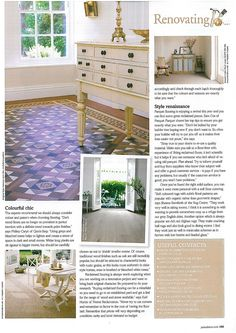 @Bonnie Wells Randolph Ideas Magazine - April 2013. Lindisfarne tiles from the Victorian Floor tiles collection.