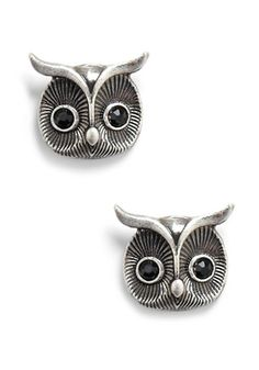 Owl Earrings from http://www.modcloth.com/shop/earrings/where-feather-you-please-earrings