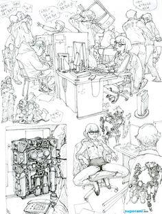 Drawing by Kim Jung Gi Junggi Kim, Comic Layout, Drawing Sketches, Drawings, Kim Jung, Sketchbook Inspiration, Anime Sketch, Character Design Inspiration, Erotic Art