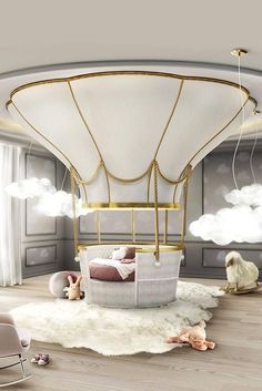 20 Luxury Dining Room with Gold Details - Kids Bedroom / Playroom -