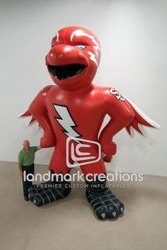 Inflatable Johnny Thunderbird #StJohnsUniversity #sports #inflatables