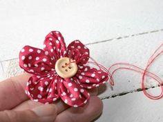 Stoffblumen: Knopf