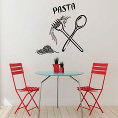 Italy Wall Decals Italian Pasta Food Meal by WallDecalswithLove