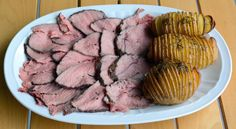 Roast beef con patate Hasselback
