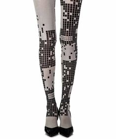 "Gemusterte Strumpfhose ""Game Boy"" in Hellgrau - Attire - Skirt Ideas Game Boy, Full Support Bras, Soft Cup Bra, Patterned Tights, Plus Size Bra, Bra Straps, Sexy Bra, Black Print, Hosiery"
