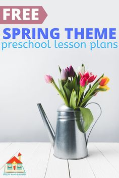 Free Printable Learn At Home Preschool Lesson Plans - Need preschool lesson plans for distance learning? Need lesson plans for preschool that you can teach at home? These are free printable lesson plans for preschool for a spring theme! Try these spring lesson plans for preschoolers and get over 16 spring activities for preschoolers, all requiring no prep work! Free preschool lesson plans for spring.