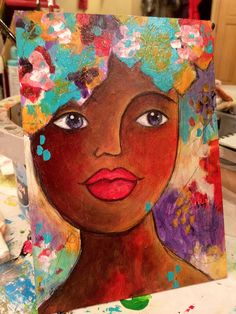 """""""blessings girl"""" daily painting study series by Paulette Insall"""