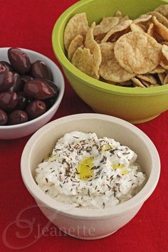 Feta Yogurt Dip with Za'atar © Jeanette's Healthy Living