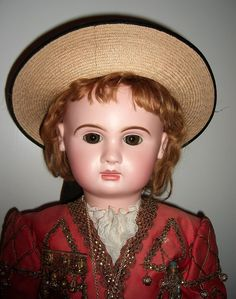 """RARE & Amazing 35"""" Paris Bebe Antique Doll in Marquis Costume - from threesistersantiques on Ruby Lane"""