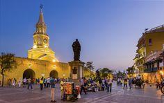 Plaza de los Coches, Cartagena, Colombia.