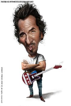 "Bruce ""The Boss"" Springsteen FOLLOW THIS BOARD FOR GREAT CARICATURES OR ANY OF OUR OTHER CARICATURE BOARDS. WE HAVE A FEW SEPERATED BY THINGS LIKE ACTORS, MUSICIANS, POLITICS. SPORTS AND MORE...CHECK 'EM OUT!! Anthony Contorno Sr"